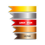 Show colorful ribbon promotional products design, vector Royalty Free Stock Photography