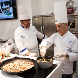 Show cooking at HOMI, home international show in Milan, Italy Royalty Free Stock Photo