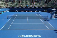 Show court 2 during Australian Open 2016 at Australian tennis center in Melbourne Park. MELBOURNE, AUSTRALIA - JANUARY 25, 2016: Show court 2 during Australian Stock Image