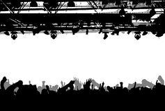 Show Crowd Silhouette. Vector Illustration. No Meshes Royalty Free Stock Image