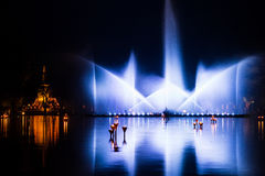 Show curtain water Royalty Free Stock Image