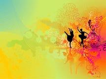 Show dance illustration Stock Photo