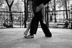 Show dance. Tango dance. Tango dancers on the street. Ballroom dancing. Show dance. Passion Royalty Free Stock Photography