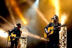 Show Dawn Landes (musikband) för levande musik på den Bime festivalen Royaltyfri Bild