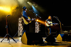Show Dawn Landes (musikband) för levande musik på den Bime festivalen Royaltyfria Foton