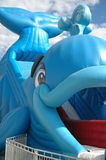 Show Day 5. Close up of inflatable whale ride at the local show day Stock Photos
