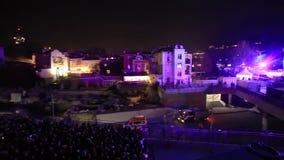 Show des Lichtes 3D für das Plowdiw 2019 - Europäische Kulturhauptstadt stock video footage
