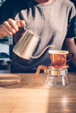 Show of Drip Coffee. Selective focus Stock Photo