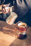 Show of Drip Coffee. Selective focus Royalty Free Stock Image