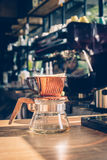 Show of Drip Coffee. Selective focus Royalty Free Stock Photography