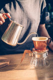 Show of Drip Coffee. Selective focus Stock Images