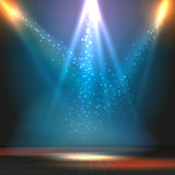 Show eller dansgolvvektorbakgrund med royaltyfri illustrationer