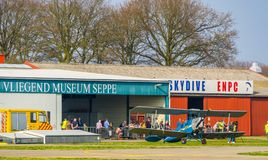 Show event at the flying museum of airport seppe breda, Bosschenhoofd, The netherlands, March 30, 2019. A show event at the flying museum of airport seppe breda stock photo