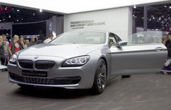 show för 6 2010 paris för bmw-coupemotor serie Arkivbilder