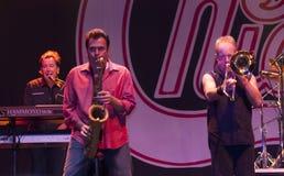 show för bandchicago rock royaltyfri fotografi