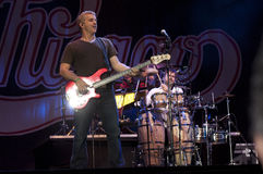 show för bandchicago rock arkivfoto