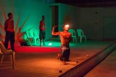 Show för brandätare på den egyptiska semesterorten Royaltyfria Foton