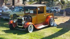 Show för Hotrod lastbilModesto bil Royaltyfria Bilder
