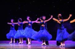 Show för internationell standarddans-universitetsområde Arkivbilder