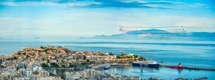 Show för Kavala lufthav royaltyfri fotografi