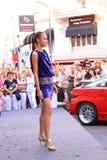 show för klänningmodeglamour Royaltyfri Foto