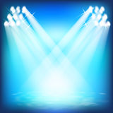Show för laser-ljus. vektor illustrationer