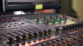 Show för ljus för ledningkonsol lager videofilmer