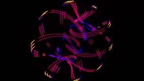Show 8 för neonljus arkivfilmer