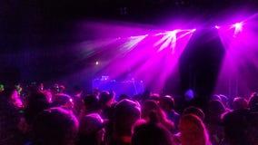 Show f?r laser-ljus arkivbild