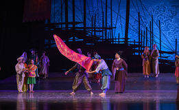 """Show the finest silk-Dance drama """"The Dream of Maritime Silk Road"""". Dance drama """"The Dream of Maritime Silk Road"""" centers on the plot of two Royalty Free Stock Image"""