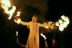 Show with fire Stock Photo