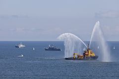 Show Firefighter Vessel. Ships Rally, Gdynia. Poland Royalty Free Stock Images