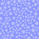 Show Flakes Seamless Pattern Stock Images