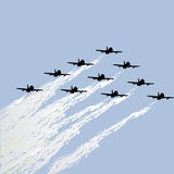 Show of force jets. Aviation show of force jets Royalty Free Stock Photography