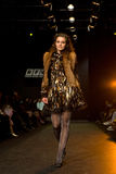show för modekvinnligmodell Arkivfoto