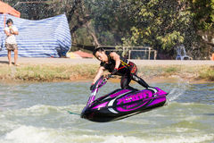 Show Freestyle the Jet Ski stunt action Royalty Free Stock Image