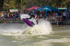 Show Freestyle the Jet Ski stunt action Royalty Free Stock Photos