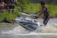 Show Freestyle the Jet Ski stunt action Royalty Free Stock Photography
