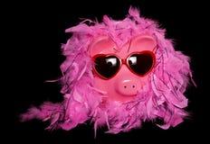 Show girl diva piggy bank. Cutout Stock Photo