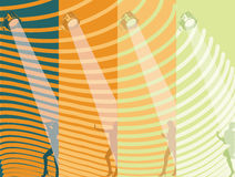 Show Girls Background Stock Photo