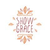 Show grace - typographic element Stock Photo