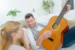 Show it through guitar Stock Image