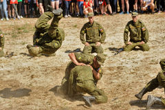 Show of high military and engineer school cadets Royalty Free Stock Image