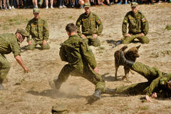 Show of high military and engineer school cadets Royalty Free Stock Photography