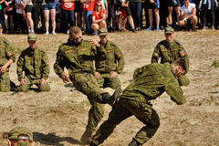 Show of high military and engineer school cadets Royalty Free Stock Images