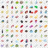 100 show icons set, isometric 3d style. 100 show icons set in isometric 3d style for any design vector illustration Stock Illustration