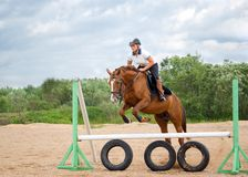 Show jumping. Royalty Free Stock Photos