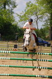 Show jumping competition Stock Image