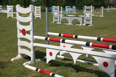 Show jumping course. A show jumping course for horses Stock Photos