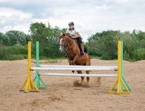 Show jumping.g Royalty Free Stock Photography